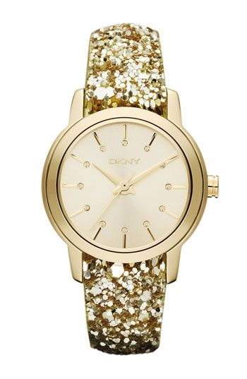 Gold Sparkle Strap Watch