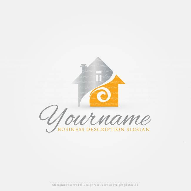Construction House logo design for sale online Online Ready made House logo design suitable for branding a Real EstateLogo, realty CompanyLogo, ConstructionLogo etc.  Make Houselogo designs with our free logo maker Use our onlineConstructionlogo makerto create your own logo, change your business name, colors, fonts, text &more.  Need some extra premium colors &fonts? Our logo designers will redesign your company