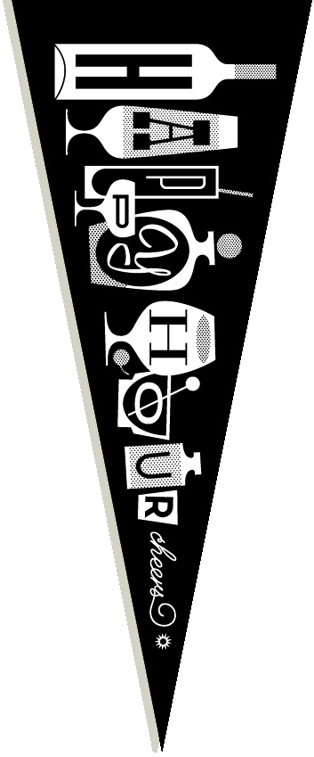 happy hour pennant   eight hour day for the people's pennant