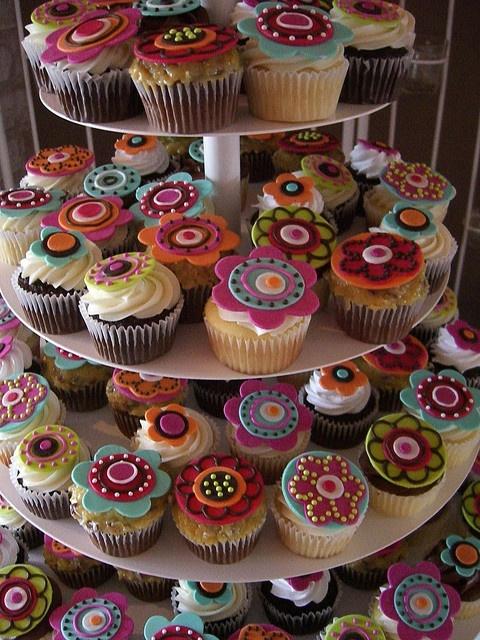 cupcakes!!! con deco de mandalas