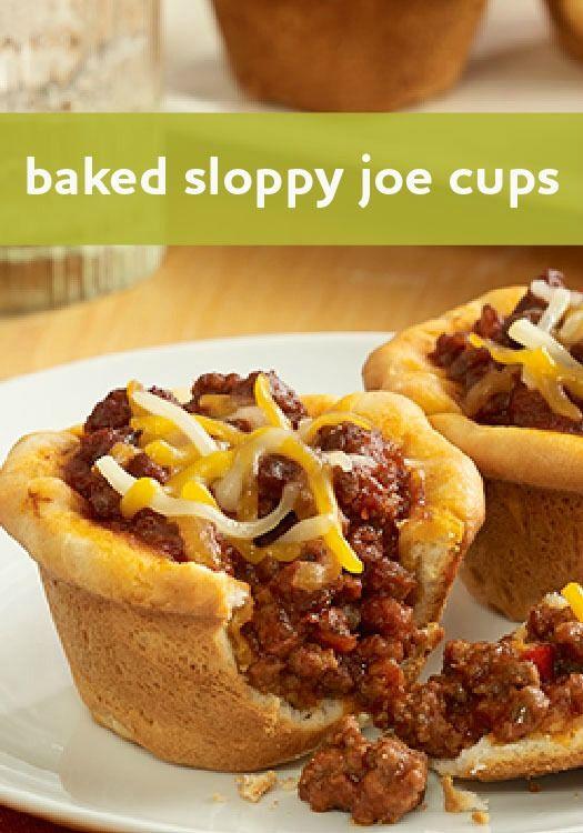 Baked Sloppy Joe Cups Recipe Sloppy Joe