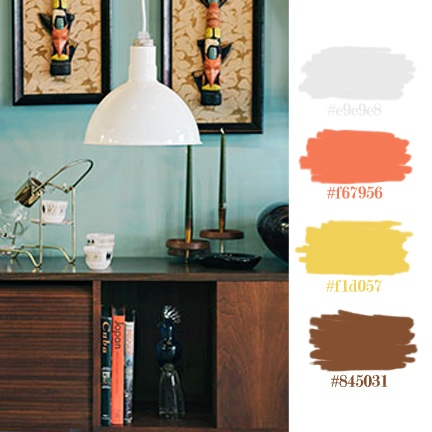 Masculine Retro Color Palette Inspired by Barn Light Electric