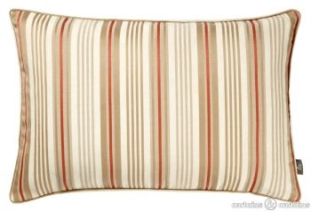 Orange and cream combine in this striped boudoir #cushion