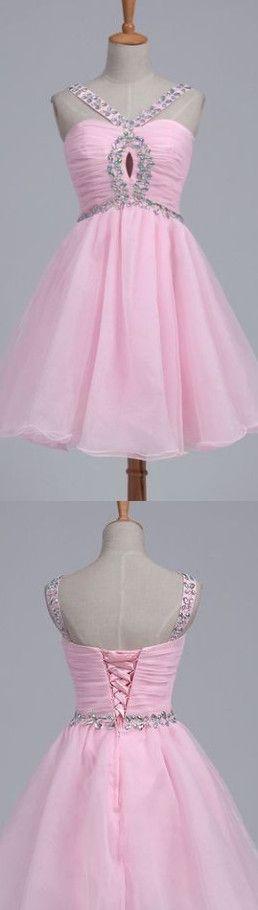 Cute Homecoming Dress,Beading Homecoming Dress,Chiffon Graduation Dress, Short Prom Dress Hd051