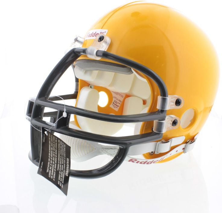 Riddell double mouthing straps yellow football helmet size