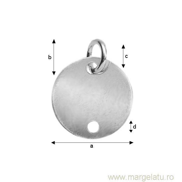 Accesoriu argint .925 banut 10 mm