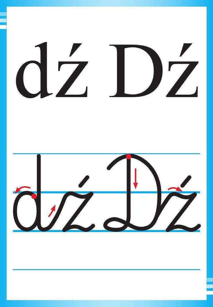 Alfabet polski, pisany dla dzieci do druku 11