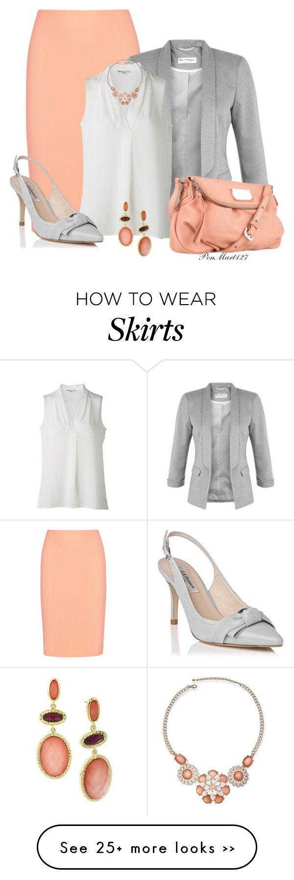 """Pencil Skirt in the Office"" by penny-martin on Polyvore"