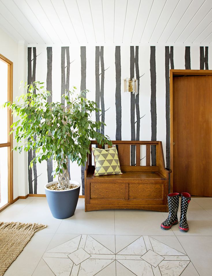 Entrances lend themselves to wall stickers or funky wallpaper highlights.