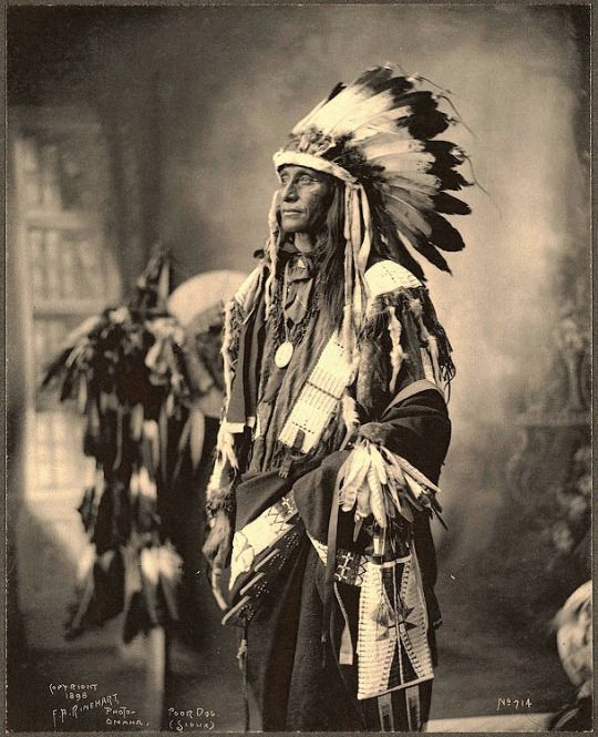 Poor Dog. Sioux. 1898. Photo by F.A. Rinehart.