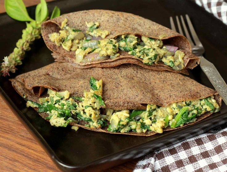 Start your lovely sunday with Buckwheat Crepes Stuffed With Spinach And Eggs Recipe -delicious gluten-free recipe made using buckwheat flour also known as Kuttu in India.This recipe is a nutritional powerhousesuper tasty and healthy option to wheat or rice- Recipe by Madhuli -->http://ift.tt/1OHrh4p #Vegetarian #Recipes