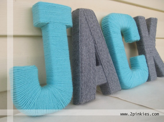Thrifty Craft: Yarn Letters