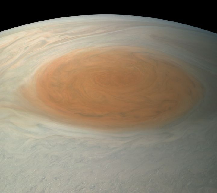 Jupiter's Great Red Spot in True Color   Mission Juno