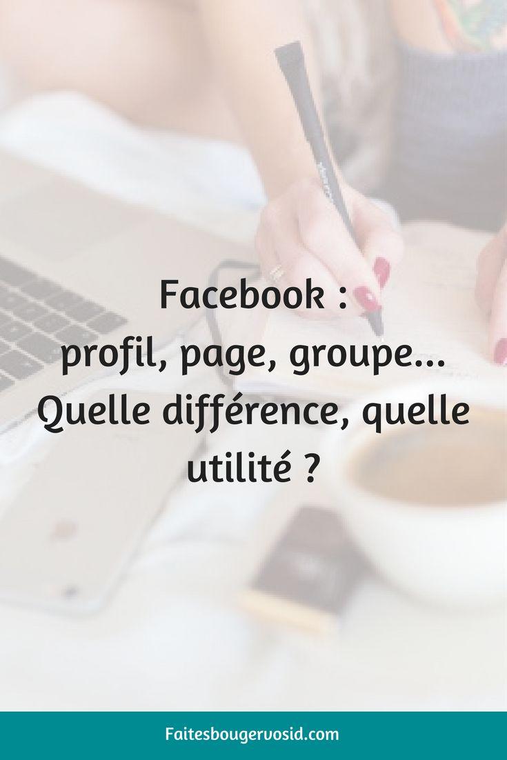 Sur Facebook, vous aveztrois fonctions : le profil, la page et le groupe. Bien que cela ne soit pas toujours très clair dans la tête des utilisateurs, chacun a sa fonction, répond à un besoin et a une utilitébien précise.