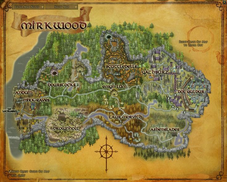 Mirkwood :: Maps :: Lord of the Rings Online :: ZAM