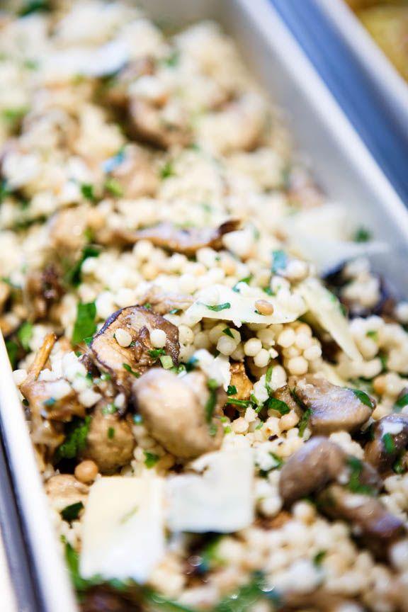 israeli couscous, wild mushroom, parmesan, and lemon truffle