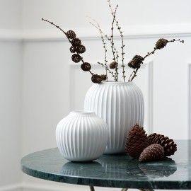 Hammershøi vase - Hvid 20 cm