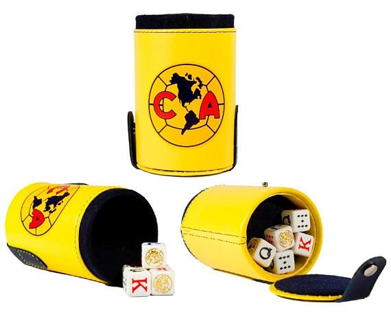 Club America Aguilas Cubilete Poker Dice Shaker Cup Game Party