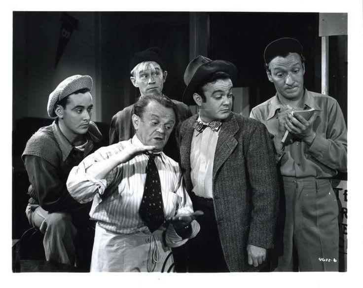 The Bowery Boys ~ (L-R) David Gorcey, Bernard Gorcey, Billy Benedict, Leo Gorcey & Huntz Hall
