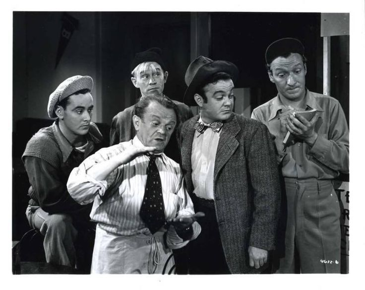 The Bowery Boys ~ (L-R) David Gorcey, Bernard Gorcey, Billy Benedict, Leo Gorcey & Huntz Hall
