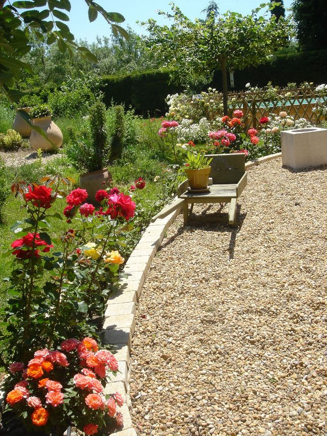 Rose Garden Landscape Plans : Rose garden beds bed ideas romantic