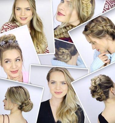 7 Easy elegant holiday hairstyle (for long hair) // 7 gyors és egyszerű ünnepi elegáns frizura (hosszú hajra) // Mindy - craft tutorial collection