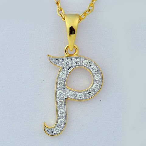 Style No.:Alphabetical Pendant PPD-00914 Diamond Weight:0.16 Ct Price  : 10390.00  NO OF STONE-16 SHAPE -ROUND COLOR-FG CLARITY- SI CERTIFICATE - IGI GOLD WEIGHT -1.5gm GOLD PURITY - 14kt GROSS WEIGHT - 01.53gm Chain not included