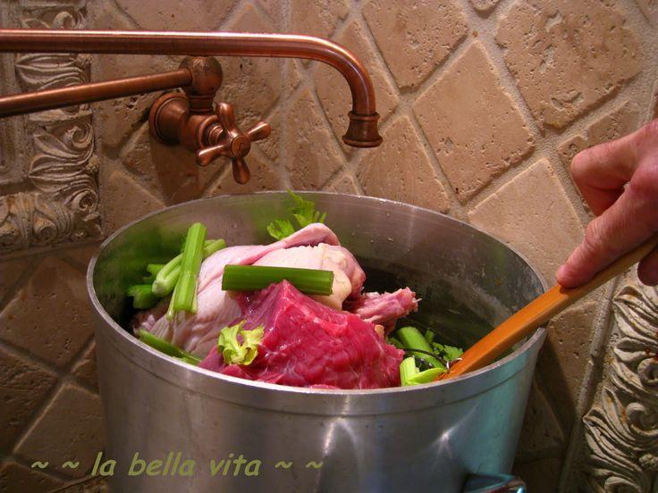 Chicken Broth for Tortellini (Brodo di Pollo)