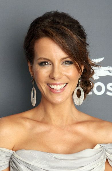 Kate Beckinsale Braided Bun: Wedding Hair, Kate Beckinsale, Updo Hairstyles, Hair Style, Long Bridal Hairstyles, Side Buns, Braids Buns, Bridesmaid Hairstyles, Low Buns
