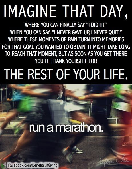 A half-marathon counts too, right? I'm not sure I want to tackle a full marathon any time soon!