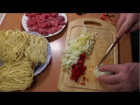 Рецепт: Лапша по Китайски с Куриным мясом и овощами - YouTube