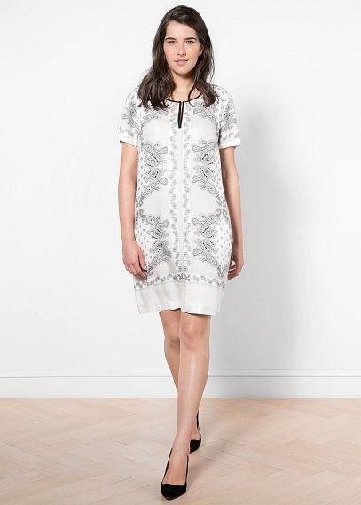 Trim flowy dress