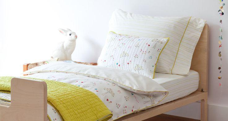 Rabbit Patch Pebble Fern Kids Twin Bedding Set