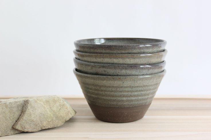 Hand thrown modern pottery bowls - Julia Paul