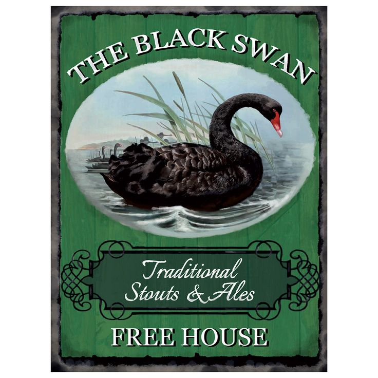 The Black Swan Public House Tin Sign is a perfect way to accentuate the decor of your pub or home with nostalgic style. The metal sign comes with pre-drilled holes for easy hanging. Measures 12