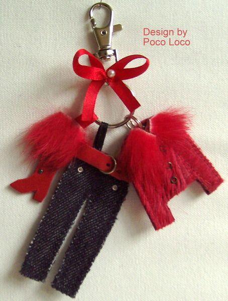 Schlüsselanhänger/Taschenanhänger Poco Loco Unikat von Poco Loco auf DaWanda.com