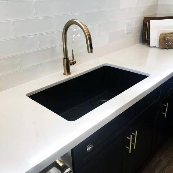 Top 50 Best Black Kitchen Cabinet Ideas Dark Cabinetry Designs Black Kitchen Cabinets Kitchen Faucet Design Black Kitchens