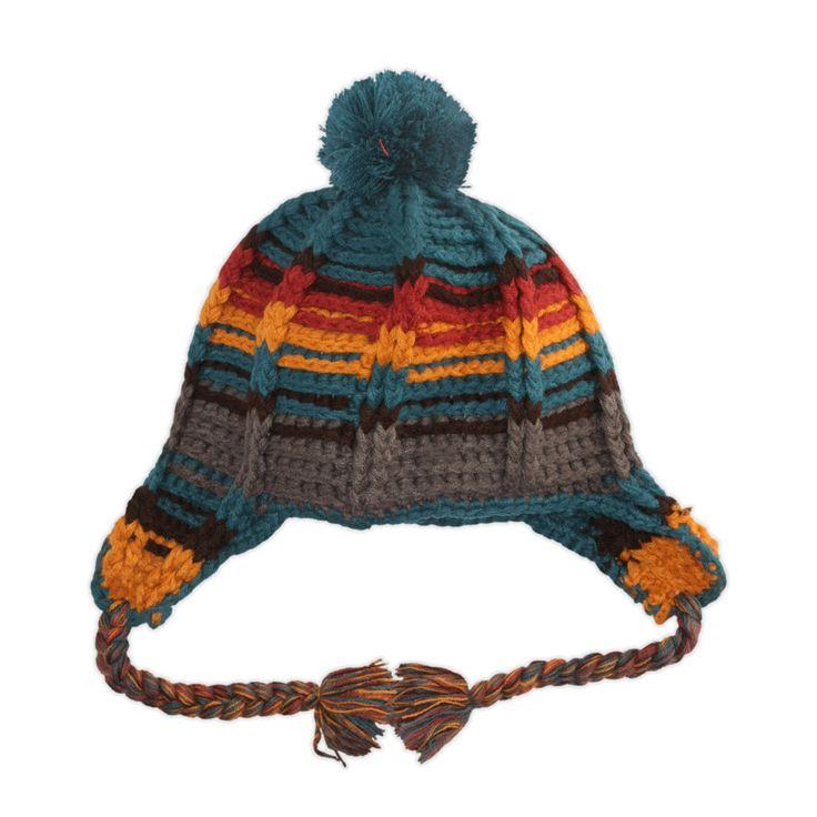 Sublevel - Farbenfrohe Mütze mit Bommel - günstig im Online Store FASHION5 kaufen, #mütze, #bommel, #winter, #accessoires