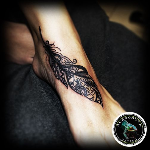Feather tattoo is a sexy idea for your new tattoo.