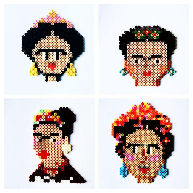 Frida Kahlo hama beads by Cecilie Derlien