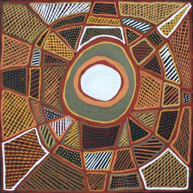 Jean Baptiste Apuatimi  / Tapalinga (Stars) Ochre on linen  1000 x 1000mm  2011