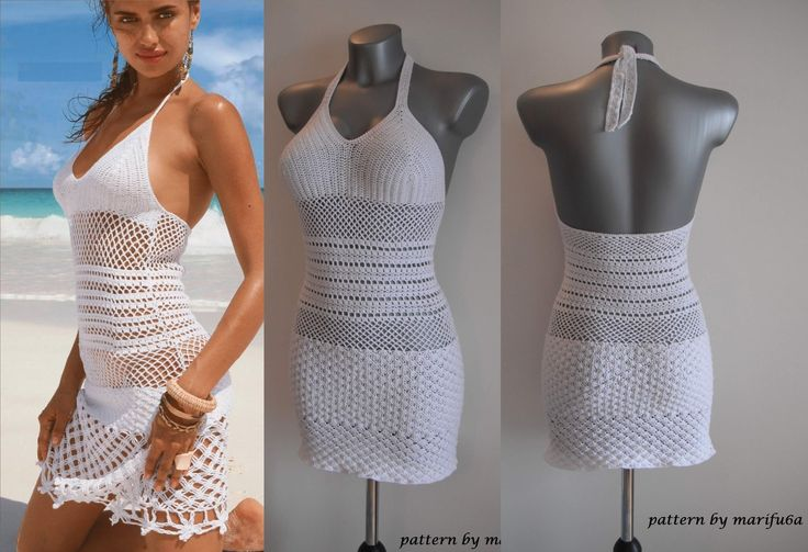 How to crochet summer dress free stitch pattern tutorial by marifu6a