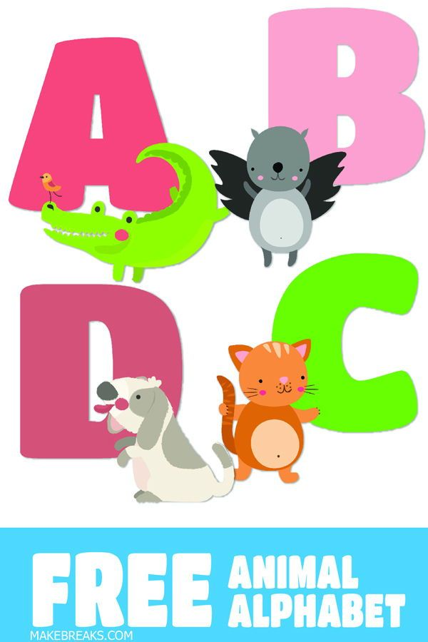 Free Illustrated Alphabet Letters Animal Alphabet Make Breaks Free Alphabet Printables Free Printable Alphabet Letters Printable Alphabet Letters