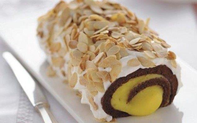 Ρολό σοκολάτας με κρέμα λεμονιού - iCookGreek