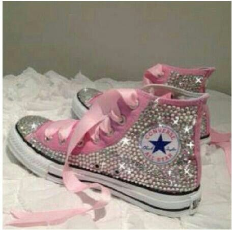 Rhinestoned out converse