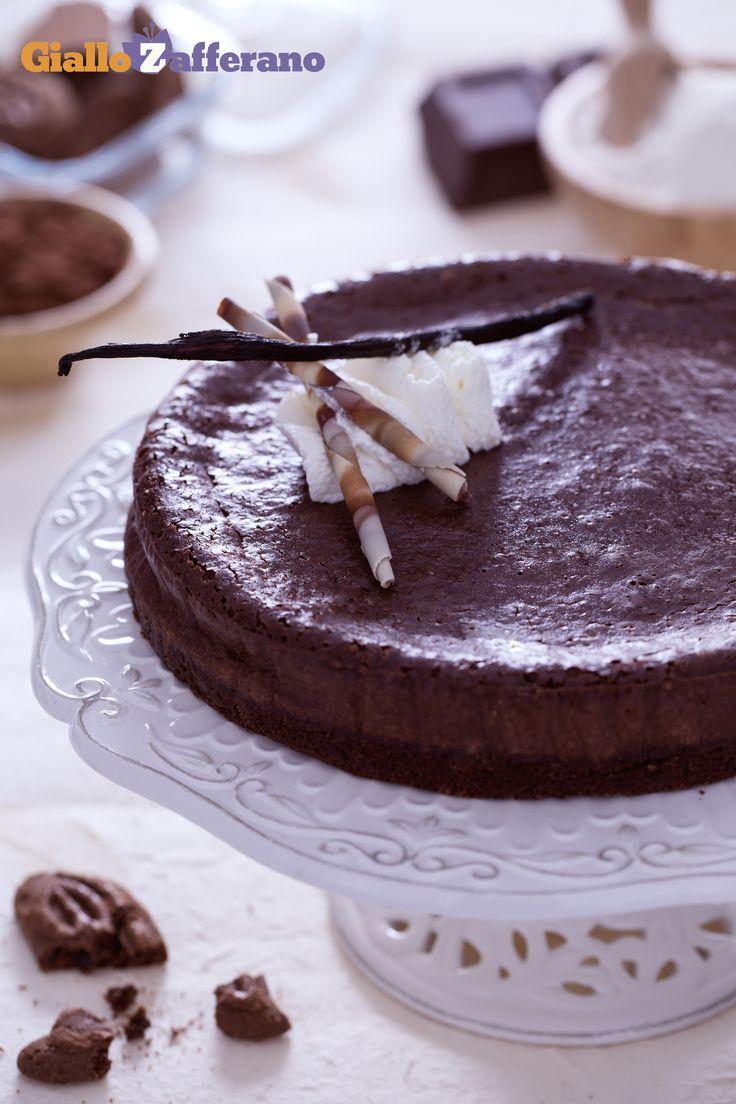 #CHEESECAKE AL #CIOCCOLATO (chocolate cheesecake), amore al primo assaggio! #ricetta #GialloZafferano #italianrecipe