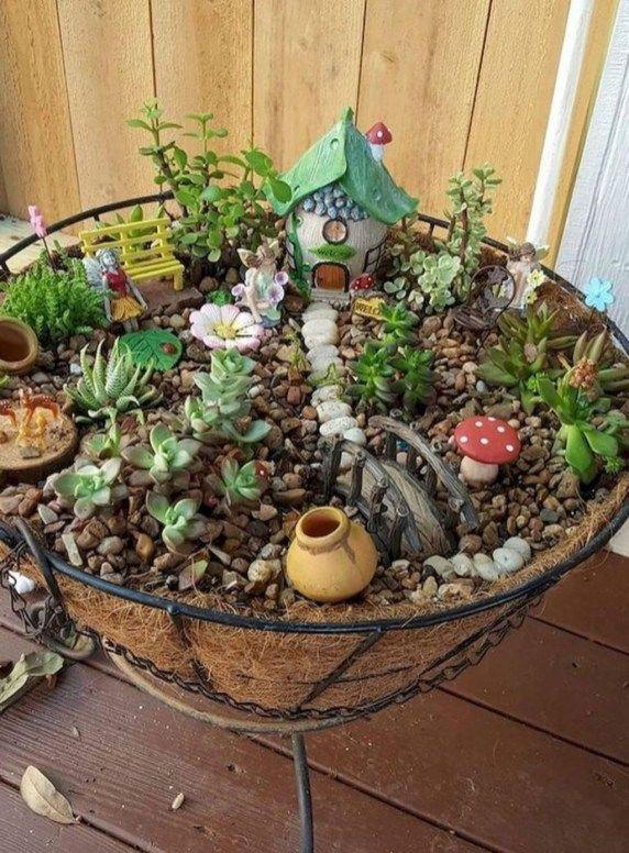 Perfect Fairy Garden Ideas To Inspire Your Mini Garden 26 Fairy Garden Bird Bath Indoor Fairy Gardens Fairy Garden Plants