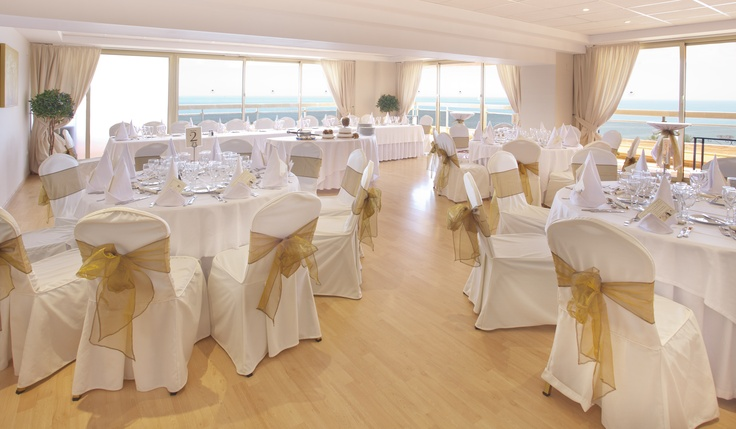 Sala Malaga - The beautiful banquet room at Sunset Beach Club, with panoramic views accross the Mediterranean.
