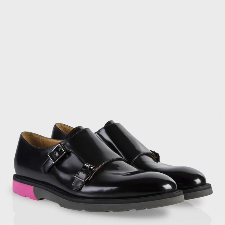 Paul Smith Men's Shoes | Black High-Shine Leather Pitt Shoes