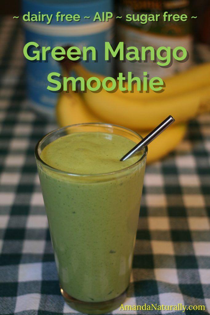Green Mango Smoothie | dairy free, AIP, paleo | AmandaNaturally.com
